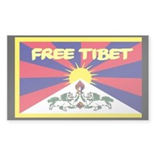 Free Tibet Rectangle Sticker 50 pk)