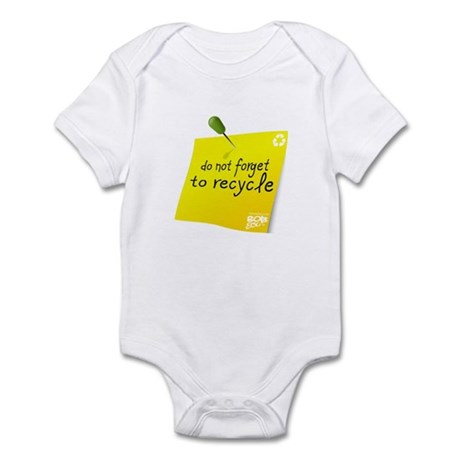 Do not Forget to Recycle Infant Bodysuit