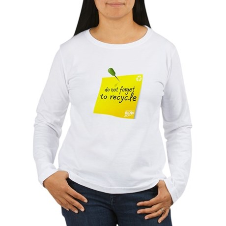 Do not Forget to Recycle Women's Long Sleeve T-Shi