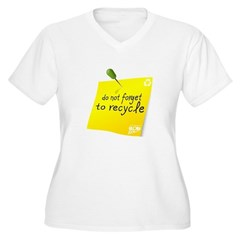 Do not Forget to Recycle Women's Plus Size V-Neck