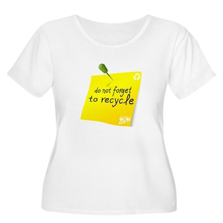 Do not Forget to Recycle Women's Plus Size Scoop N