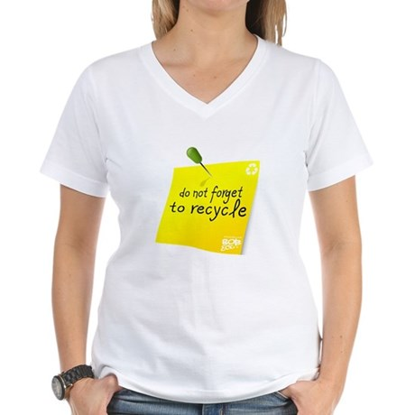 Do not Forget to Recycle Women's V-Neck T-Shirt