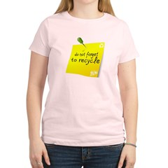 Do not Forget to Recycle Women's Light T-Shirt
