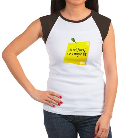 Do not Forget to Recycle Women's Cap Sleeve T-Shir