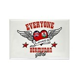 Everyone loves a Bermudan girl Rectangle Magnet