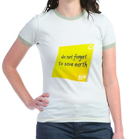 Do not Forget to Save Earth Jr. Ringer T-Shirt