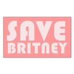 SAVE BRITNEY Rectangle Sticker