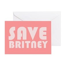SAVE BRITNEY Greeting Card