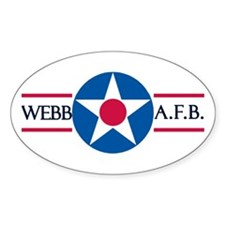 Webb Air Force Base Oval Decal