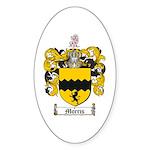 Morris Family Crest Oval Sticker