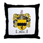 Morris Family Crest Throw Pillow