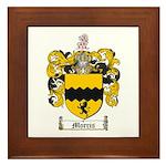 Morris Family Crest Framed Tile