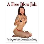 A Free Blow Job Anti-War Small Poster