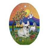 French Bulldog in Fantasyland Ornament (Oval)