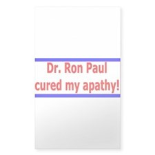 Ron Paul cure-4 Rectangle Sticker 10 pk)