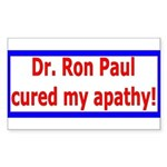 Ron Paul cure-4 Rectangle Sticker 50 pk)
