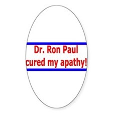 Ron Paul cure-4 Oval Decal