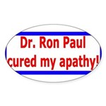 Ron Paul cure-4 Oval Sticker