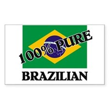 100 Percent BRAZILIAN Rectangle Decal