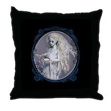Dead Bride Portrait Throw Pillow