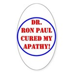 Ron Paul cure-2 Oval Sticker