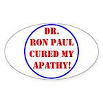Ron Paul cure-2 Oval Sticker