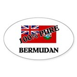 100 Percent BERMUDAN Oval Decal