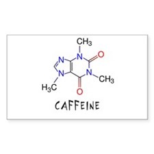 Caffeine molecule Rectangle Decal