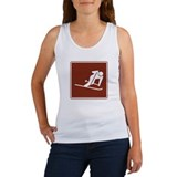 Downhill Skiing Sign Women's Tank Top