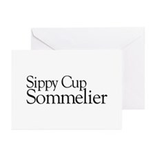 Sippy Cup Sommelier Greeting Cards (Pk of 20)