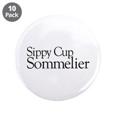 "Sippy Cup Sommelier 3.5"" Button (10 pack)"