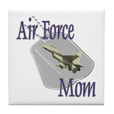 Jet Air Force Mom Tile Coaster