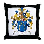 Haer Family Crest Throw Pillow