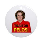 PELOSI TRAITOR Ornament (Round)