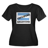 100 Percent ARGENTINE Women's Plus Size Scoop Neck