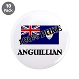 "100 Percent ANGUILLIAN 3.5"" Button (10 pack)"