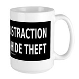 WAR IS THE DISTRACTION Mug