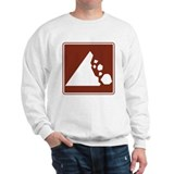 Falling Rock Sign Sweatshirt