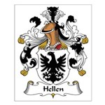 Hellen Family Crest Small Poster