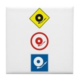 DJ Traffic Tile Coaster