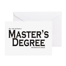Master's Degree Greeting Cards (Pk of 10)