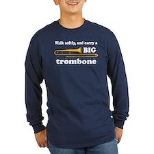Funny Trombone Player Long Sleeve Dark T-Shirt