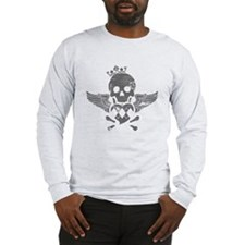 Winged Skull Long Sleeve T-Shirt