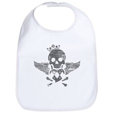 Winged Skull Bib