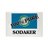 100 Percent Sodaker Rectangle Magnet
