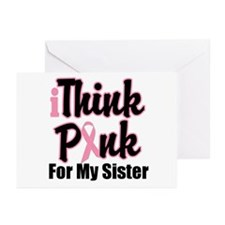 iThinkPink Sister Greeting Cards (Pk of 10)