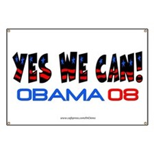 """Yes We Can"" Banner"