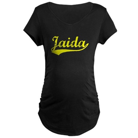 Vintage Jaida (Gold) Maternity Dark T-Shirt