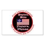 Free Lauren-2 Rectangle Sticker