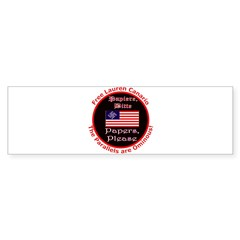 Free Lauren-2 Bumper Sticker (50 pk)